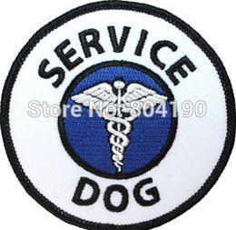Wholesale Halloween Service Dog Guide Animal Medical Disability Assistance Pet Iron On Sew On Patch Tshirt TRANSFER MOTIF APPLIQUE Rock Punk Badge
