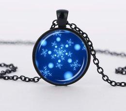 Wholesale Trendy Jewellery Blue SNOWFLAKE Necklace Aqua Turquoise Pendant Statement Necllaces CN566