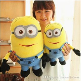 Wholesale Big Size inch cm Minions D Despicable Me Eyes Yellow Large Minion Doll Plush Stuffed Toys For Children Christmas Birthday Gift