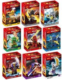Wholesale 90pcs Building Blocks Phantom Ninja Minifigures Justice League Hat Jay Mater Chan Pythor Cole Skyer