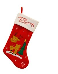 Wholesale Christmas decorations stockings Selling Products Gift bag Super sized socks inch color options santa claus