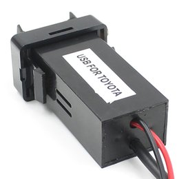Wholesale FS Hot Dual USB Charger Audio Port Interface for Toyota Scion Cars Blank Switch Hole order lt no track