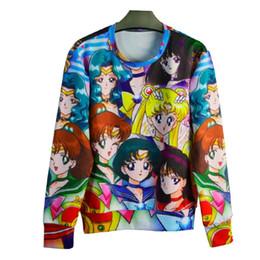 w1213 Raisevern new 3D sweatshirt long sleeve pullovers digital print Sailor Moon casual loose hoodie unisex sweatshirts for men women