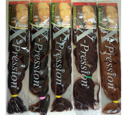 Wholesale PC Expression Braids Ultra Braid quot G Synthetic Hair For Braids Color1 B B B X pression Braiding Hai