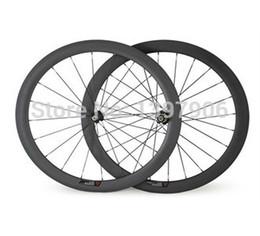 Wholesale Carbon Bikes Rims - carbon wheelset bikes 700c 50mm OEM carbon clincher wheels for road bicycle wheel novatec hubs 23mm wide road rims carbon bike