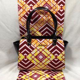 Wholesale 6Yards Dutch Wax Fabric Hand Bag Clearance Fabric promotion Premier African Exclusive Super Wax Fabric Ankara Church PU yy6