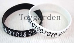 20 pcs mixes Fashion funky cool MUSIC NOTES silicone rubber wristbands wrist bands bracelets