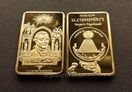 Wholesale GOLD INGOT ILLUMINATI kt FreeMason Masonic Conspiracy Order Bullion bar