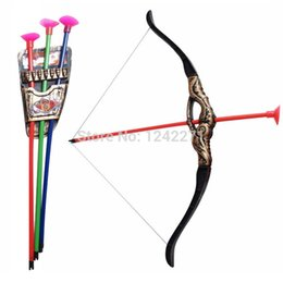 Wholesale Outdoor Shooting Sports Toy Bow and arrow Toy Set Plastic toys for Children Kids outdoor toys