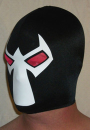Black and white Lycra Mask   hood red spandex eye can see outside