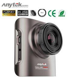 Descuento cámaras de guión recuadro negro Anytek A3 Car Recorder Upgrade Novatek96655 Mini coche DVR con zoom SOYN IMX322 CMOS super visión nocturna Dash Cams cámara de coche Negro Caja