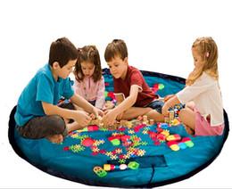 Acheter en ligne Stockage pour les jouets-150cm Enfants enfants jouets Sacs de buggy de stockage pour les blocs de lego
