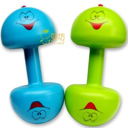 Wholesale Children Kids Boys Weight Adjustable Fitness Dumbbell Filled With Sand Water Rice Toys