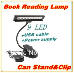 Wholesale Advanced High Quality Rechargeable LED LED Book Lamp Music LED Reading Light With Clip stand