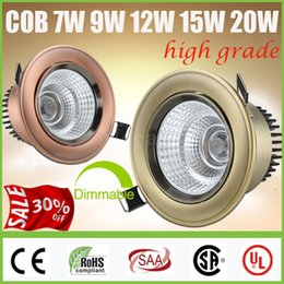 Wholesale Best OFF CREE W W W W W COB LED Downlights Dimmable Non Tiltable Fixture Cabinet Recessed Ceiling Down Lights Lamps CE CSA SAA