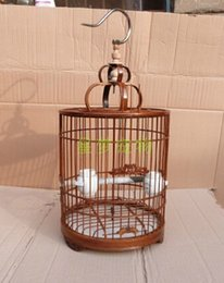 Wholesale Bamboo cages hobby gift bird cages pet supplies bird feeder outdoor bird supplies
