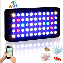 Wholesale Best quality energy saving wifi control w aquarium led light Dimmable Full spectrum for coral reef fish Tank Christmas Discount