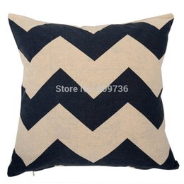 Wholesale Europe Retro Decorative Pillow Cover Black White Geometric Home Linen Cotton Pillowcase abstraction Cushion Case