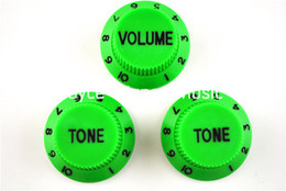 Las perillas de control de la guitarra eléctrica de las perillas del tono del verde 1 Volume2 para el envío libre de la guitarra del estilo de la defensa de la defensa venden al por mayor desde perillas guitarra fender proveedores