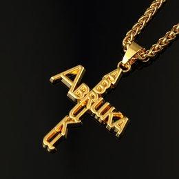 Wholesale 2016 men real gold plated chains k cross necklace crucifixo banhado a ouro gargantilla con cruz mujer christian gifts