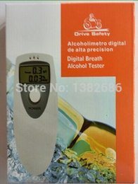 Wholesale LCD Digital Breath Alcohol Detector Analyser Breathalyzer Body Alcoholicity Meter AlcoStop Drunk Driver Tester Lanyard Portable