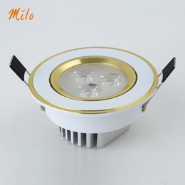 Wholesale Platinum degree adjustable LED lamp ceiling downlight aluminum fin thickness and exquisite surface treatment w w AC85 V