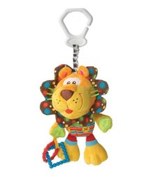 Wholesale 2015 hot baby plush toy bed pram hanging toys infant baby lion doll best quality