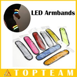 Wholesale LED Armbands Reflective Bands Flashing Light Velcro Arm Bands Outdoor Sports Safety ArmBands For Running Cycling