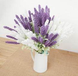 Silk Lavender Bunch Lavenders Bush Bouquet Simulation Artificial flower Lilac & Purple & White Wedding  Home artificial flower SF016