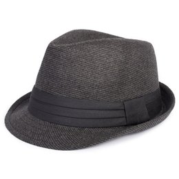 Wholesale-Quinquagenarian fedoras hat men 100% cotton solid cap fedoras seniority autumn and winter hat elegant hat fedoras cap male