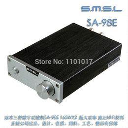 Wholesale SMSL SA E TDA7498E W Amplifier Ultimate version Big Power HIFI EXQUIS Digital AMP with original high power adapter