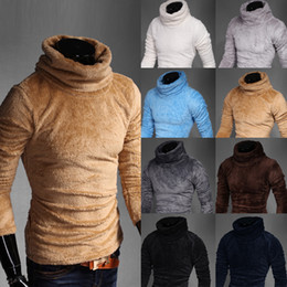 New Flat Knitted Rib Stitch Brands Coat Turtleneck Shirt Sweater Winter Jumpers Pullover M-XXL 8 colors