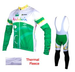 Andalucia 2015 winter thermal fleece cycling clothes bicycling jerseys sale cycling kit winter cycling jersey mountain bike winter jersey