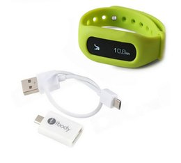 Wholesale ibody Tracker Intelligent Fitness Smart Wristband Pedometer Counter Bracelet Motion Record For Calories Burned Steps Distance
