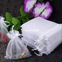 Free Shipping Fashion 100pcs lot 13x18cm White Christamas  Wedding Drawable Organza Voile Gift Packaging Bags&Pouches