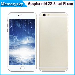 Wholesale Goophone i6 inch G Phone call Dual Core MTK6572 Android x540 Show GB GB Bean Show G Unlocked Smart Phone Newest