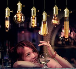 Wholesale 40W Filament Light Bulbs Vintage Retro Industrial Style edison Lamp E27 Edison Bulb Vintage Incandescent Lights
