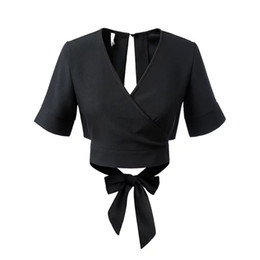 European style fashion sexy new spring and summer 2016 drain back vent knot T-shirt jacket tide