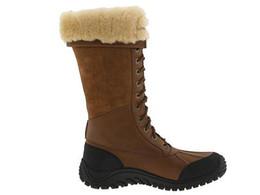 Wholesale 100 Original Snow Boots ADIRONDACK TALL Women s Boots BROWN Australia Brand Classic Genuine Leather Sheepskin Authentic Winter Boots