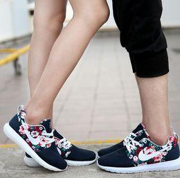 Wholesale Spring men s running shoes fashion casual shoes London flower designer women s sports shoes plus size