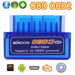 Wholesale Universal OBD V2 ELM327 OBD2 Bluetooth Auto Scanner OBDII Car ELM Tester Diagnostic Tool for Android Windows Symbian