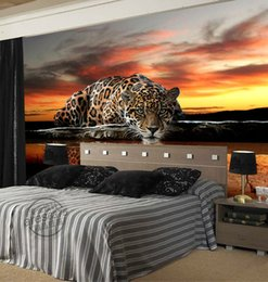 Custom photo wallpaper Animal Leopard 3D Wallpaper Waterproof Mural Sitting room Ceiling Kids Bedroom Art Room decor Wedding Decoration Wild