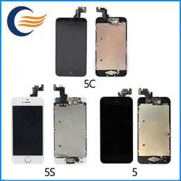 Wholesale Hight quality LCD Display Touch Digitizer Complete Screen home button camera Full Assembly Replacement for iPhone S C With DHL shipping