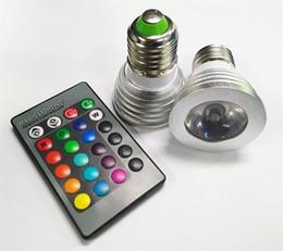 HOT Sale 3W LED RGB Bulb 16 Color Changing 3W LED Spotlights RGB led Light Bulb Lamp E27 GU10 E14 MR16 GU5.3 with 24 Key Remote Control