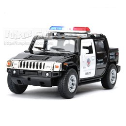 Wholesale High Simulation Exquisite Baby Toys KiNSMART Car Styling Hummer H2 Off Road SUV U S Police Car Alloy Car Model Best Gifts