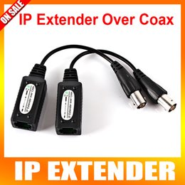 Wholesale 2016 New CH Passive IP Extender Over Coax Transmit IP Camera Signal Over Existing Coaxial Cable Max Up To m