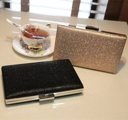 Wholesale Cheap Ladies Clutch Bags - Cheap New Arrival 2015 Black And Gold Sequins Clutch Evening Bags Handbags High Quality Evening Ladies Purses For Party EN8211