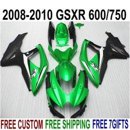 Wholesale NEW motorcycle fairings set for SUZUKI GSXR750 GSXR600 K8 K9 bright black green airing kit GSXR600 R21P