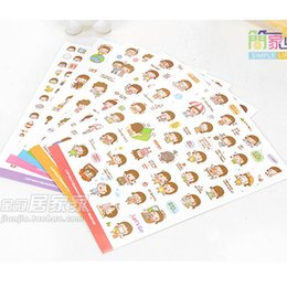Wholesale sheets cookie girl paper sticker PVC decoration sticker for phone album scrapbooking stationery chirldren gift