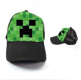 Wholesale Minecraft Creeper Mesh Caps Cartoon Trucker Caps Lorry Caps Men Adjustbale Hats colors